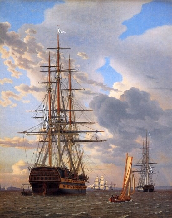 Russian ship of the line Asow. Christoffer Wilhelm Eckersberg