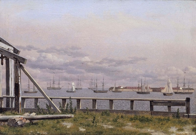 View from the Lime-kilns in Copenhagen. Christoffer Wilhelm Eckersberg