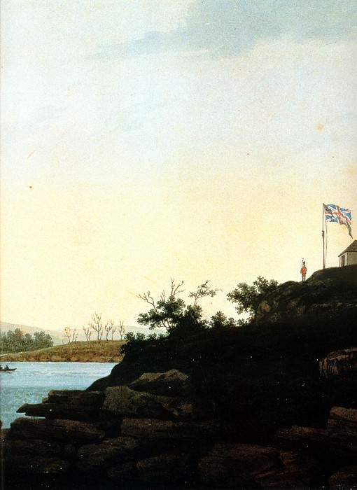 MPA George Evans Port Jackson from Dawes Point, 1809-b sqs. Джордж Эванс