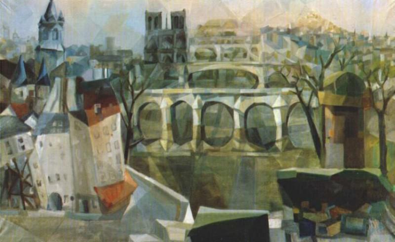 view of paris 1912. Exter