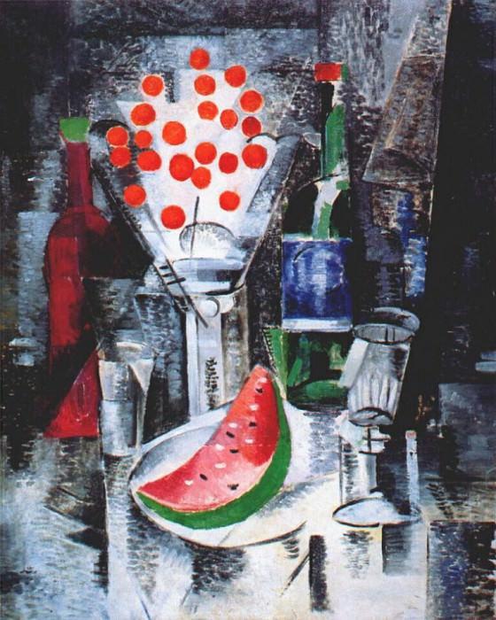 Натюрморт с вишнями в чаше, 1914. Александра Александровна Экстер