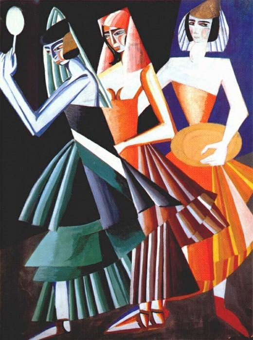 Саломея, костюмы для танца -Семь вуалей-, 1917. Александра Александровна Экстер