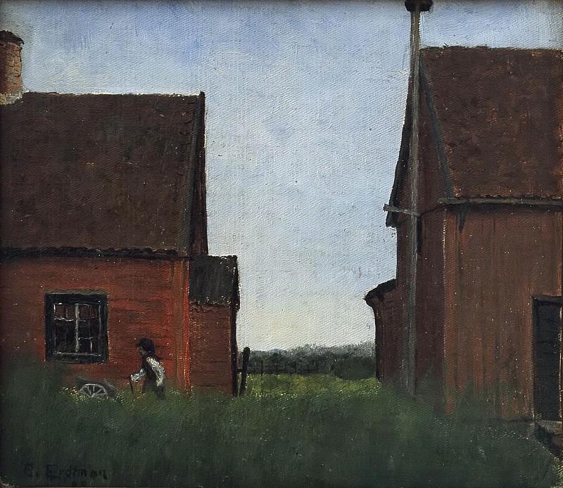 Scene from Lommaryd, Småland. Elias Erdtman