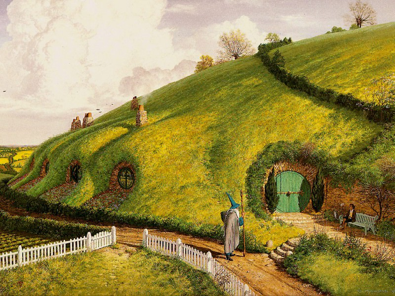 Middle Earth-Gandolf & Bilbo(Jlm). Middle Earth