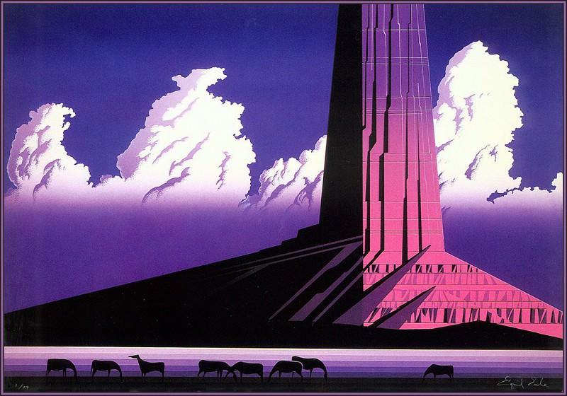 Purple Monument. Eyvind Earle