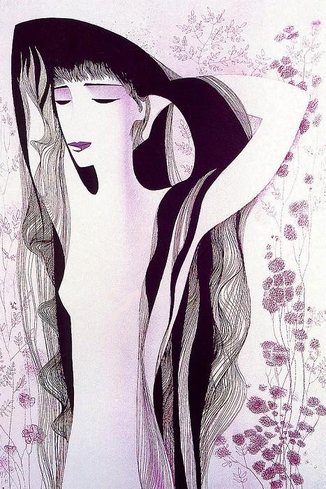 Девушка с волосами цвета воронова крыла. Эйвинд Эрл