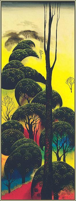 Climbing Oaks. Eyvind Earle