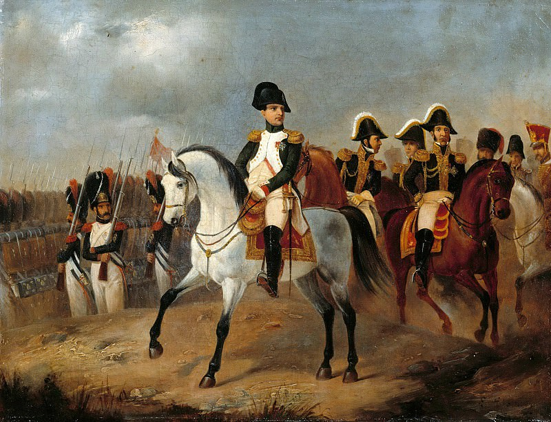 Napoleon I with his Generals. Ludwig Elsholtz