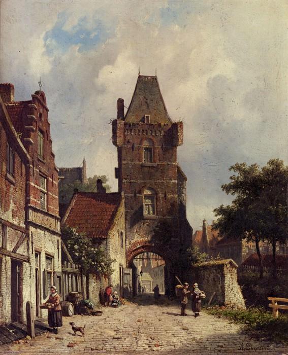 In The Village. Adrianus Eversen