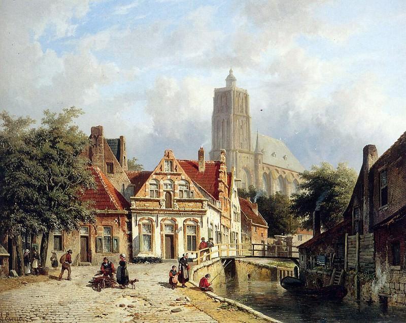 View in Brielle. Adrianus Eversen