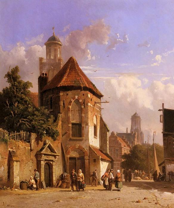 View Of A Dutch Street. Adrianus Eversen