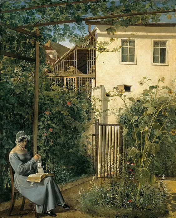 Vienna home garden. Erasmus Ritter von Engert