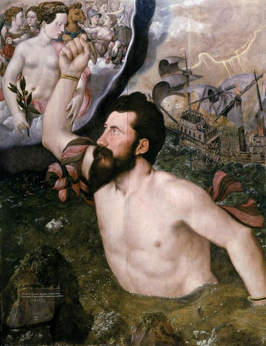 Allegorical portrait of Sir John Luttrell. Hans Eworth (Ewoutsz)