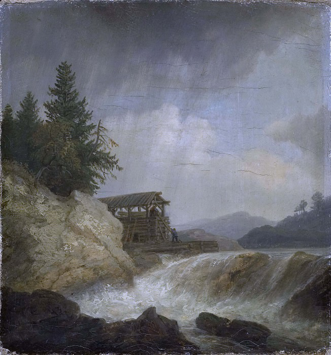 Nordic Landscape with a Waterfall. Christian Ezdorf