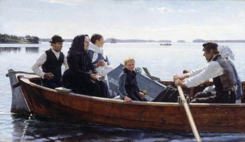 A Childs Funeral NNL. Albert Edelfelt