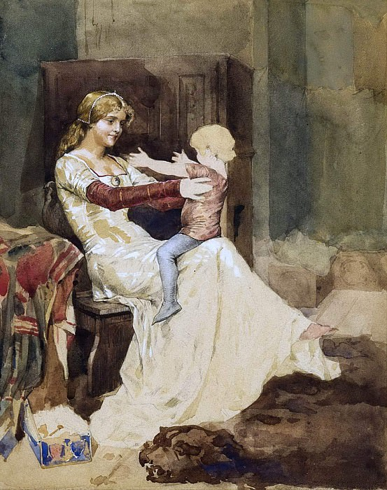 Queen Blanka. Study. Albert Edelfelt