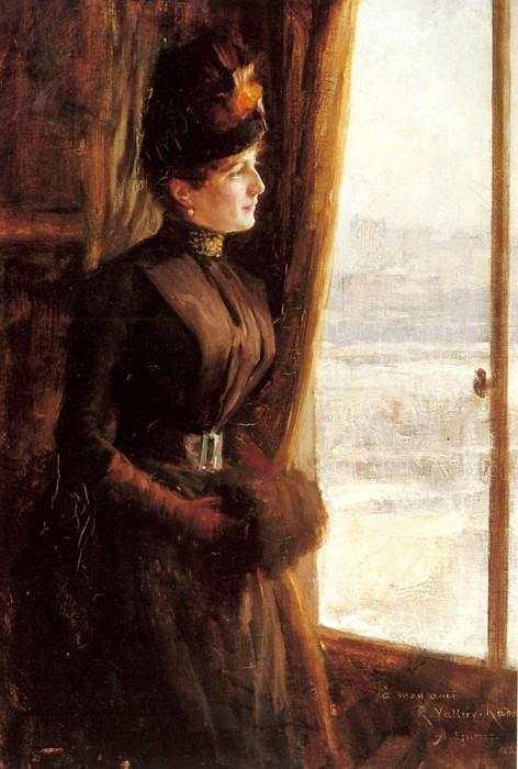 A Portrait Of Madame Vallery Radot. Albert Edelfelt
