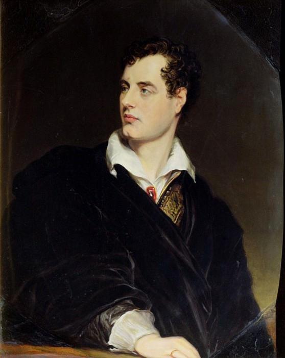 Лорд Байрон (с портрета кисти Томаса Филлипса, написанного в 1814 году). Уильям Эссекс