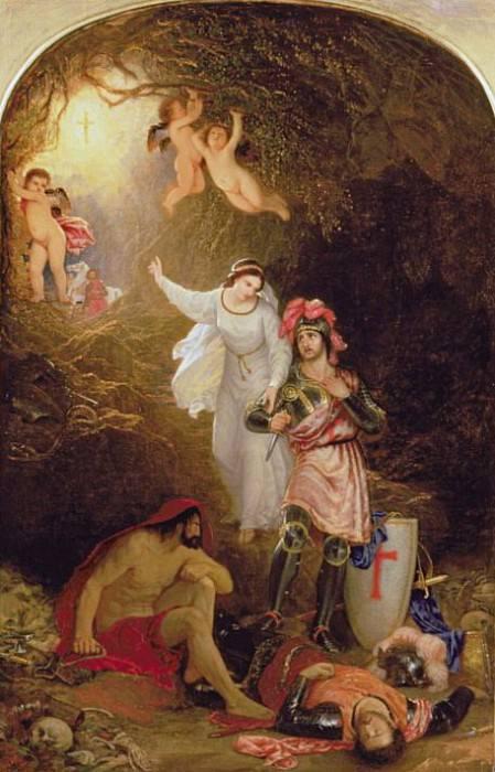 Уна выводит рыцаря Красного Креста из пещеры Отчаяния. сэр Чарльз Лок Истлейк