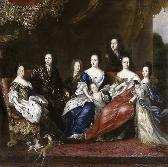 Karl XI King of Sweden with Family. David Klöcker Ehrenstråhl (Attributed)