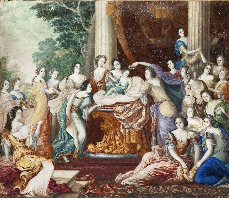 Allegory of King Charles XII's Birthday. David Klöcker Ehrenstråhl (After)