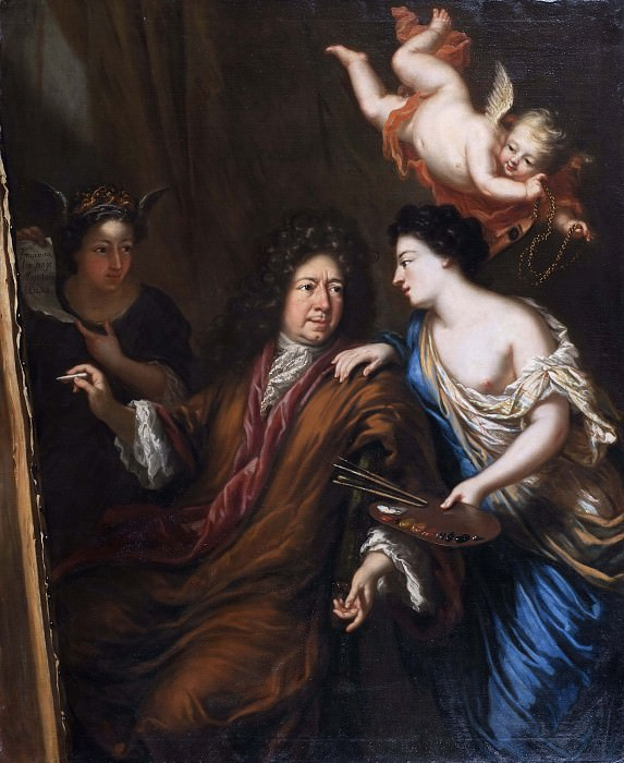 Selfportrait with Allegories. David Klöcker Ehrenstråhl