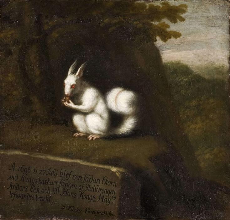 White Squirrel in a Landscape. David Klöcker Ehrenstråhl
