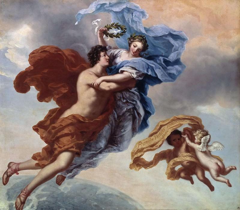 The allegory of virtue. David Klöcker Ehrenstråhl (Attributed)