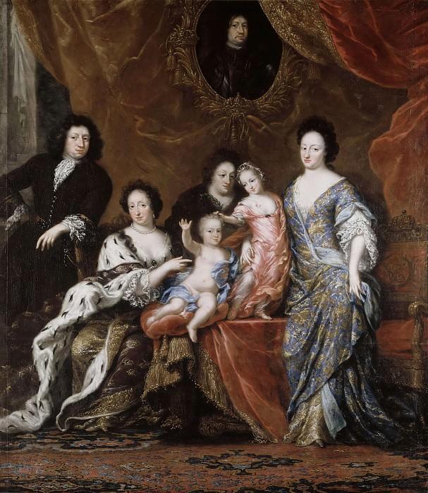 Karl XI (1655-1697), King of Sweden with family. David Klöcker Ehrenstråhl (Attributed)