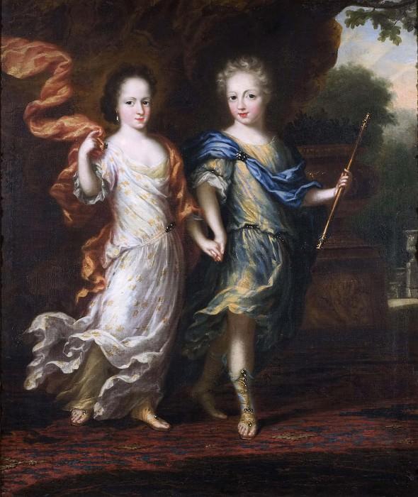 Karl XII (1682-1718), King of Sweden, Palatinate Grave of Zweibrücken and Hedvig Sofia (1681-1708). David Klöcker Ehrenstråhl