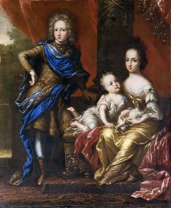 Karl XII, 1682-1718, King of Sweden, his Sisters Hedvig Sofia, 1681-1708, Princess of Sweden. David Klöcker Ehrenstråhl (Attributed)