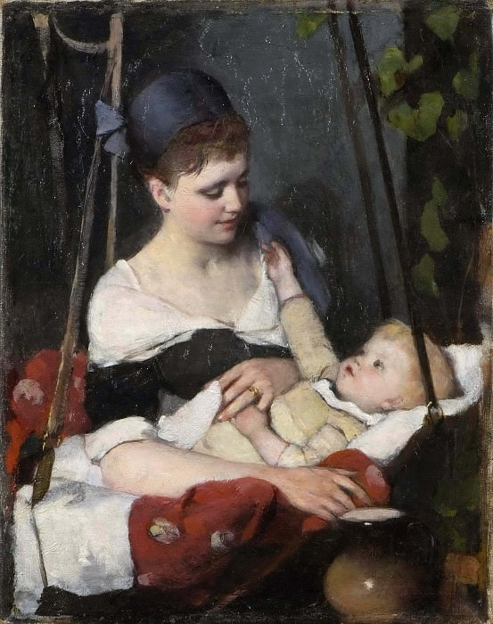 Young mother rocking her child. Emma Ekwall
