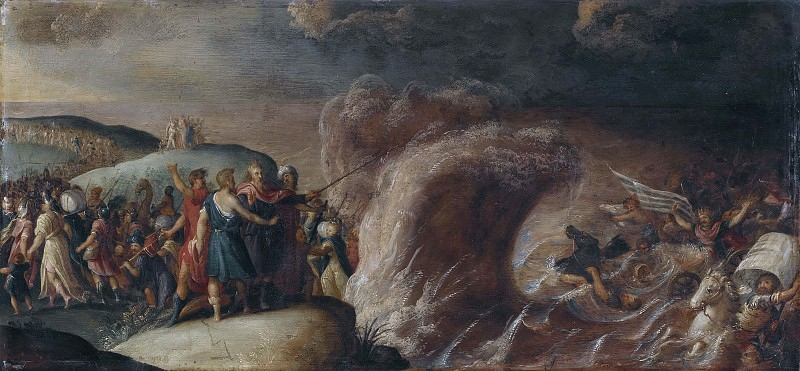 The Crossing of the Red Sea. Frans The Younger Francken
