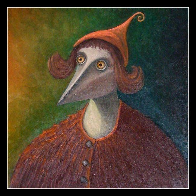 Деревянный человек в красной шапочке. К. Фродо