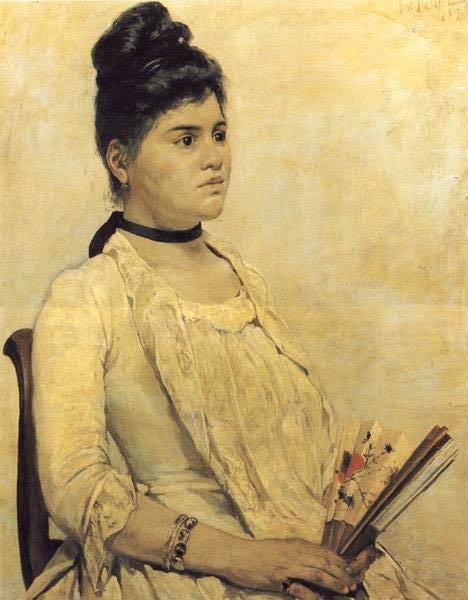 Ritratto della figliastra (1889) Firenze, Galleria darte mo. Giovanni Fattori