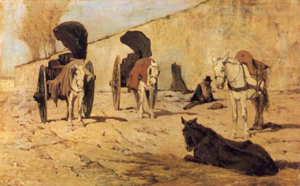 Barrocci romani (1873) Firenze, Galleria darte moderna di P. Giovanni Fattori