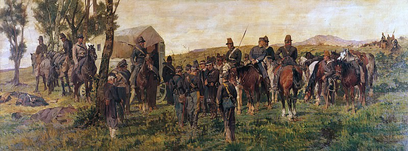 Third War of Independence - Prince Amedeo of Savoy wounded at the Battle of Custoza, 24 June 1866. Giovanni Fattori