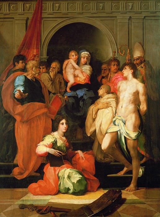 Madonna Enthroned with Ten Saints. Giovanni Battista Rosso Fiorentino