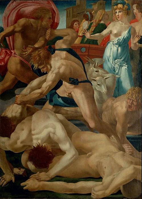 Moses and Jethros daughters. Giovanni Battista Rosso Fiorentino