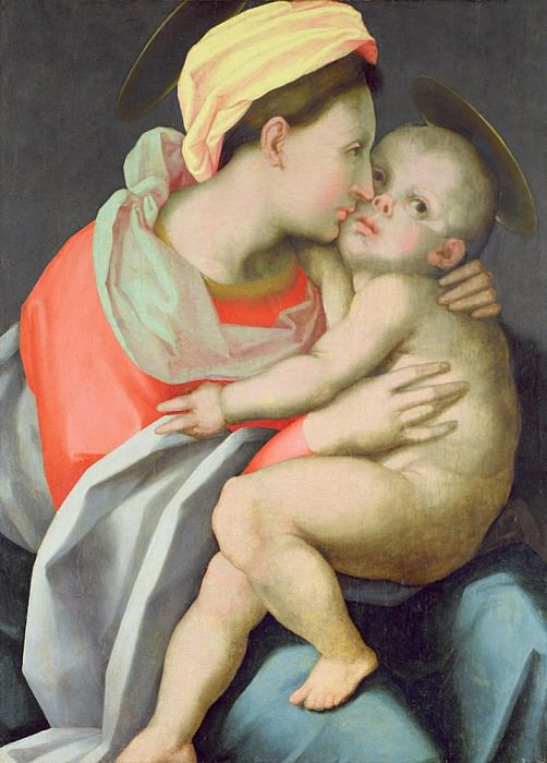 Madonna and Child. Giovanni Battista Rosso Fiorentino