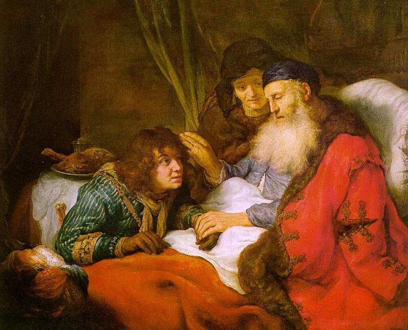 FLINCK Govert Teunisz Isaac Blessing Jacob. Говерт Флинк