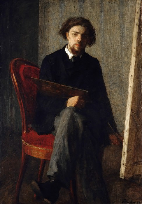 Self-Portrait. Ignace-Henri-Jean-Theodore Fantin-Latour