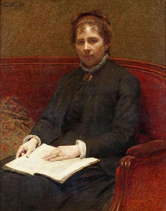 Жена художника. Игнас-Анри-Жан-Теодор Фантен-Латур