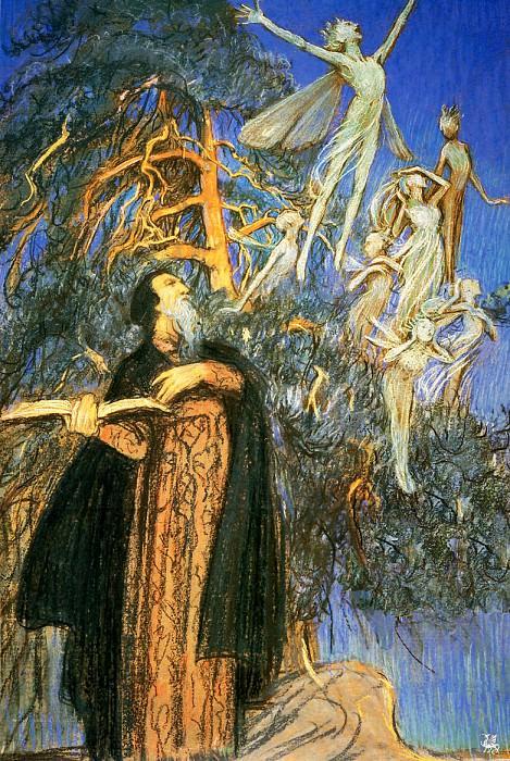Prospero and Ariel. Eleanor Fortescue-Brickdale
