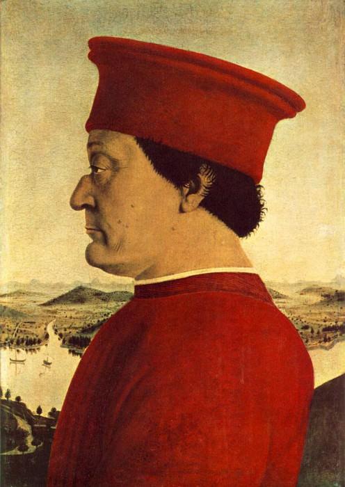 Portrait Of Federico Da Montefeltro. Piero della Francesca