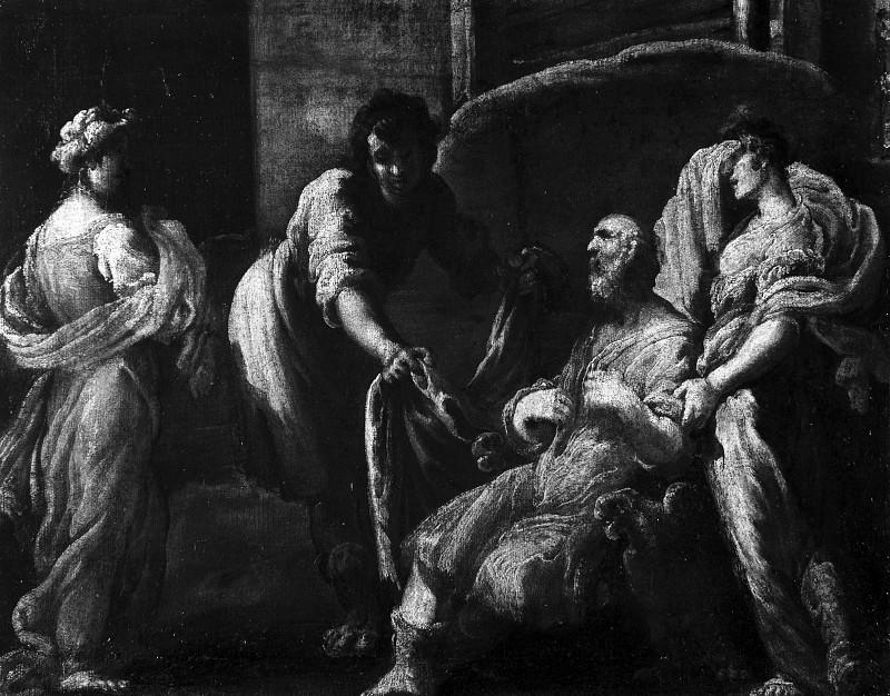 Иов, утешаемый ангелами. Доменико Фетти
