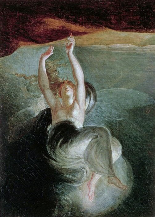 Titania finds the magic ring on the shore from Oberon by Christoph Martin Wieland (1733-1813). Henry (Fussli Fuseli