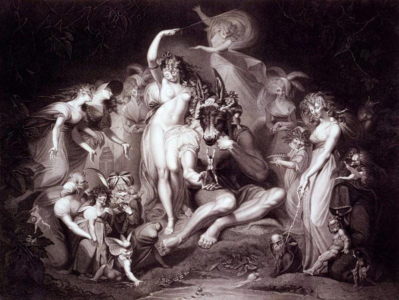 Titania, Bottom and the Fairies, Act 4 Scene 1 of A Midsummer Nights Dream. Henry (Fussli Fuseli