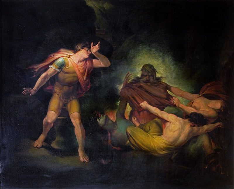 The Fire King appears to Count Albert. Henry (Fussli Fuseli