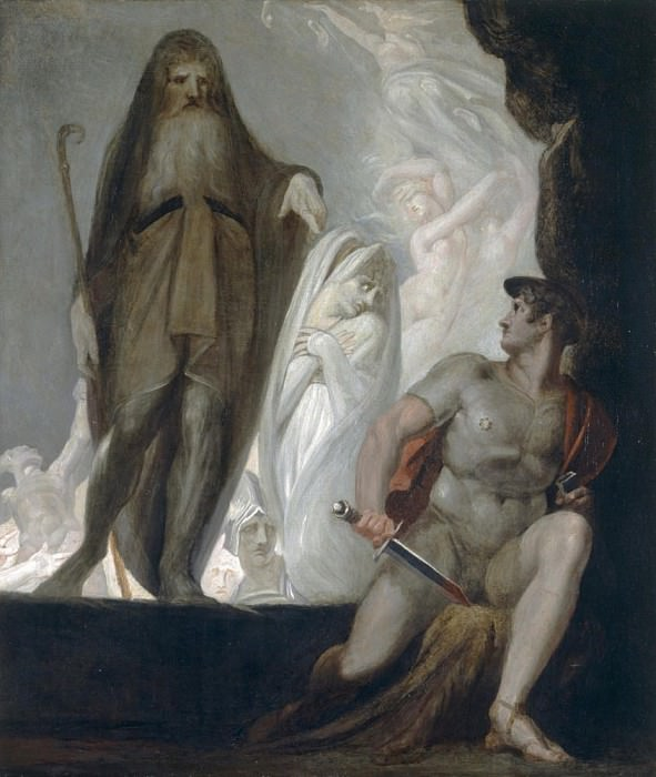 Teiresias foretells the future to Odysseus. Henry (Fussli Fuseli